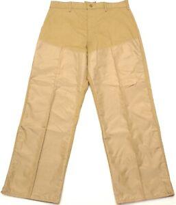 Vintage Bob Allen Hunting Brush Briar Guard Khaki Pants, Made in USA, Size 33X32