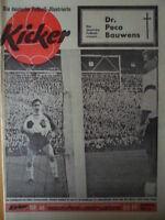 KICKER 46 - 18.11. 1963 * Köln-HSV 4:1 Dortmund-Lautern 9:3 Schalke-Hertha 1:0