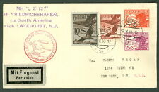 AUSTRIA, 1930, So. American Zeppelin Flight to NY (bkstp), high value franking