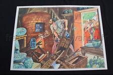 C672 Affiche Scolaire vintage bernard Palissy Saint Barthélémy ecole Rossignol