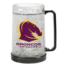 Brisbane Broncos NRL Gel Ezy Freeze Beer Stein Frosty Mug Cup Man Cave Bar Gift