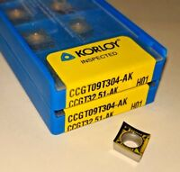 KORLOY CCGT 32.51-AK / CCGT 09T304-AK H01 Carbide Inserts for Aluminum (10 PCS)