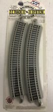 """Bachmann E-Z Track System 18"""" Radius Curved Track 4 Pieces #44501 Nickel Silver"""