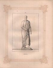 Impresión VICTORIANO c1850 ~ Sextus Griego Romano Escultura
