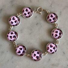 Pink Leopard Print Bracelet 🐆 - Handmade