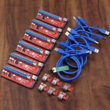 5 Pcs Pci-e Express Usb3.0 1x To16x Extender Riser Card Adapter SATA Power Cable
