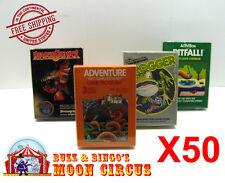 50X  ATARI 2600 CIB GAME BOX -CLEAR PLASTIC PROTECTIVE BOX PROTECTOR SLEEVE CASE