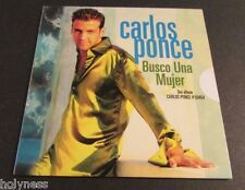 CARLOS PONCE / BUSCO UNA MUJER / PROMO CD / SINGLE / FACTORY SEALED