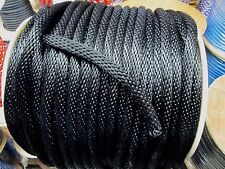 "ANCHOR ROPE DOCK LINE 1/2"" X 100' BRAIDED 100% NYLON BLACK MADE IN USA"