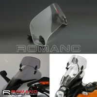 Universal Motorcycle Windshield Extension Adjustable Spoiler Clamp-On Windscreen