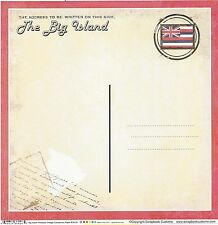 Sc - The Big Island Hawaii Postcard Scrapbooking Paper - 1 sheet - Vintage 36426