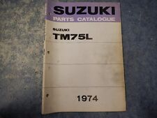 1974 SUZUKI TM75 MINI CROSS PARTS CATALOGUE MANUAL 1ST EDITION 74 75 76 TM75L