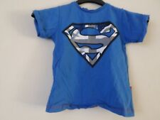 Boys Blue Primark Superman 100% Cotton T-Shirt Top   Age: 3-4 Years