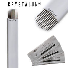 Microblading LAME Aghi 12U x5 Trucco Sopracciglio Tattoo Manuale Strumento crystalum
