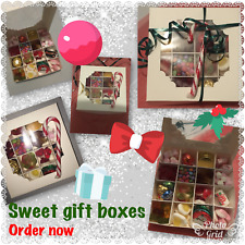Christmas Sweet Gift Boxes, Filled with various sweets