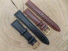 Lot of 2 Hirsch Brumby Austria 20mm 16mm Leather Vintage Mens Watch Band NOS