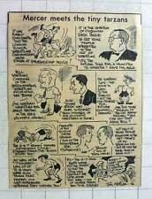 1960 Jim Mercer Cartoon London Junior Wrestling Jack Ingle Alec Wishart