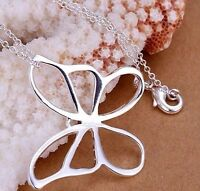 925 Sterling Silver Large BUTTERFLY Pendant  Charm Necklace Fashion Jewelry Gift