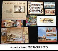 INDIA - 2011 COMPLETE SET OF 9 MINIATURE SHEETS MNH