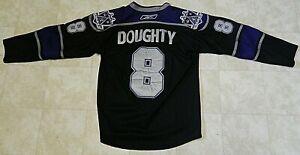 LA Kings Hockey Jersey Drew Doughty, Purple  Black & Silver Used