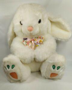 Easter Bunny Rabbit Plush Hoppy Hopster  Ears Carrot Large Goffa INTL