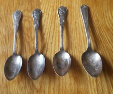 4 Different 1933 World's Fair Souvenir Spoons