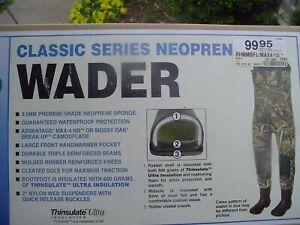 REDHEAD BONE-DRY 600G THINSULATE NEOPRENE CHEST WADERS SIZE 10