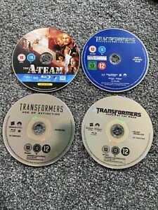 4 Blu Ray Disc Only Bundle, Transformers Age Of Extinction, Dark Of The Moon,