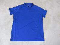 Ralph Lauren RLX Polo Shirt Size Adult Extra Large Blue Black Dri Fit Golfer Men