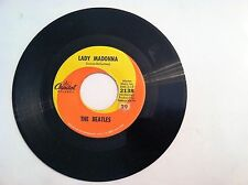 RARE - THE BEATLES - LADY MADONNA - 45 RPM  (ORIGINAL LABEL)  VG++