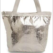 LESPORTSAC *RARE* Magnetic Silver Hailey Tote Bag