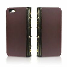 EC Technology Genuine Leather Wallet Book Cover with Credit Card ID Holders