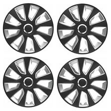 "4 x Wheel Trims Strat Hub Caps 16"" Covers fits Smart ForTwo"
