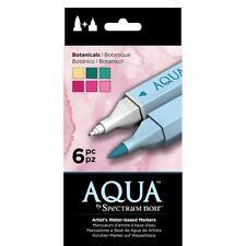 Spectrum Noir Aqua Water Based Marker Art Craft Marker Pens - Botanicals 6 Pack