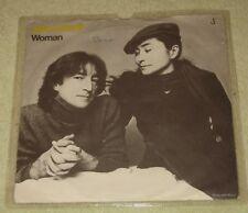 """JOHN LENNON - WOMAN - 7"""" VINYL IN PAPER SLEEVE - WEA PRESSING"""