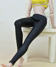 Black Elastic Leather Bottom Pants For Barbie Doll Clothes Trousers High Quality