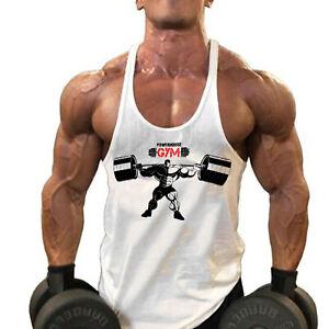 Men's Gym Workout Bodybuilding Muscle Stringer Extreme Y Back Fitness Tank Tops