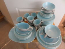 POOLE SKY BLUE & DOVE GREY TWINTONE DINNER WARE - choose from drop down menu
