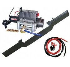 Land Rover Defender Winch Kit Bumper with DB12000I Winch And Steel Cable  DB1313