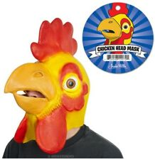 Chicken Head Mask Rubber Rooster Prank Costume Novelty Accoutrements