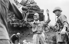 WWII photo Japanese soldiers surrender on Iwo Jima 42i