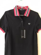 Fred Perry Womens Summer Short Sleve T Shirt Dress/ Uk Size 10 Stretch Material