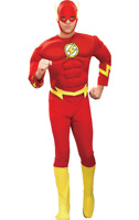 Child The Flash Muscle Chest Outfit Fancy Dress Costume Superheroes Boys Kids UK