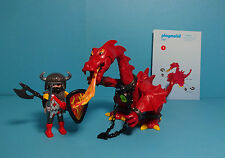 Playmobil Knights / Ritter ~ Red Dragon / Roter Drache (3327) & Anleitung