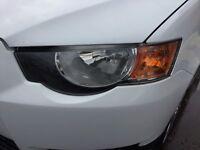 Mitsubishi Colt Cz2 Passenger Side Headlight Lamp With Bracket Breaking 2012