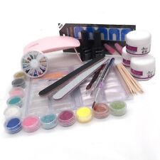 Acrylic Powder Glitter Nail Brush False Finger Pump Nail Art Tools Kit Set Tools
