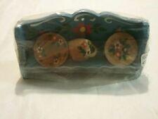 käthe wohlfahrt miniature dollhouse shelf with china still in plastic tags