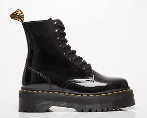 Dr. Martens Jadon Black Patent Lamper Unisex Men's Women's Black Shoes Boots