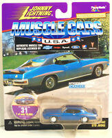 Johnny Lightning 1971 Pontiac GTO Judge Blue RW Muscle Cars USA #31 1:64