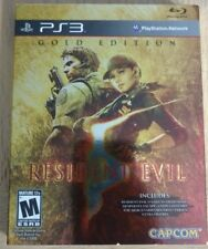 Resident Evil 5 Gold Edition [ First Print W/ Gold Sleeve Cover ] (PS3) Used